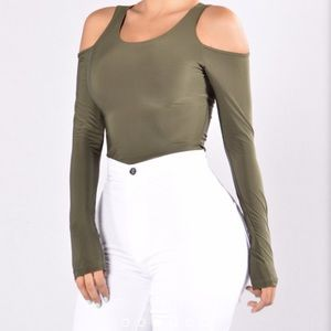 Seduction bodysuit olive
